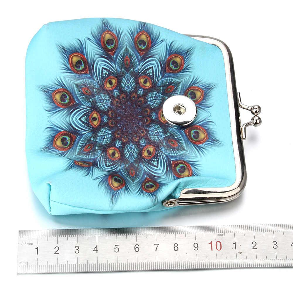 נוצת תיק עור מפוצל 18mm הצמד כפתור תכשיטי מטבע ארנקי קטן-ארנקי כסף-שקיות עבור בנות מתנת ZN059