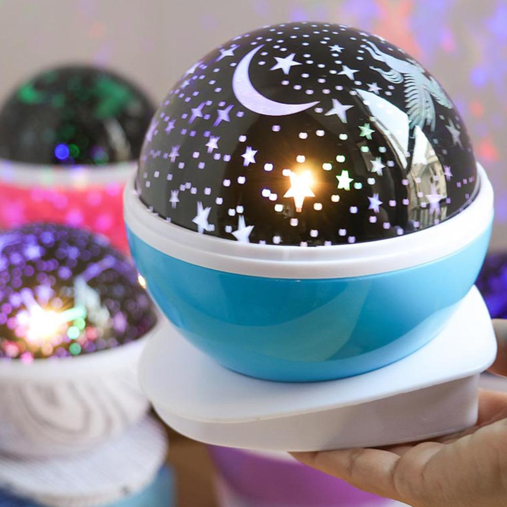 3D Moon Lamp with Projector and Rotating Stand for Child Bedroom including USB Charger 5