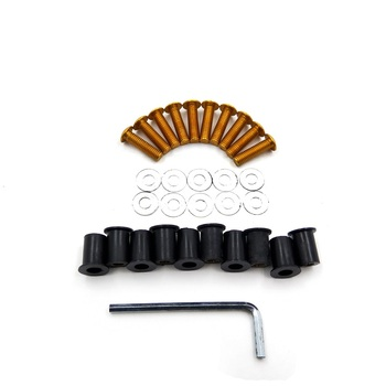 Aftermarket free shipping motorcycle parts Windshield Bolts Screw Nuts for Honda Suzuki Yamaha Kawasaki Ducati GOLD image