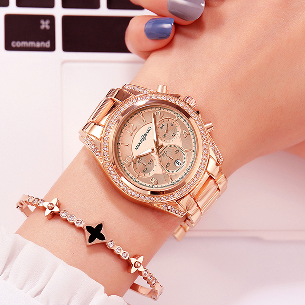 Fashion Casual Waterproof Wristwatch 2019 Classic Rose Gold Watches Quartz Calendar Women Top Brand Luxury Laides Dress Business