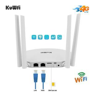 Image 2 - KuWfi 4G LTE CPE Router 300Mbps CAT4 Routers inalámbricos CPE Router Wifi desbloqueado 4G LTE FDD RJ45 Puertos y ranura para tarjeta SIM de hasta 32 usuarios