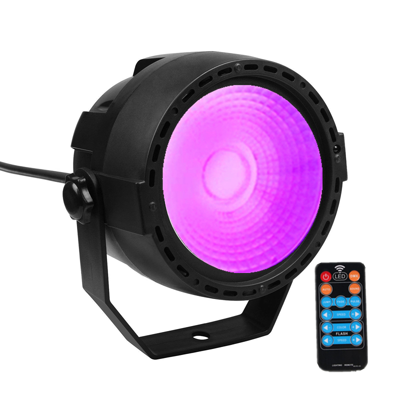 Niugul RGB+UV 30W LED COB Par Light With Wireless Remote Control /UV Effect LED Stage Lighting Professional For DJ Disco Party