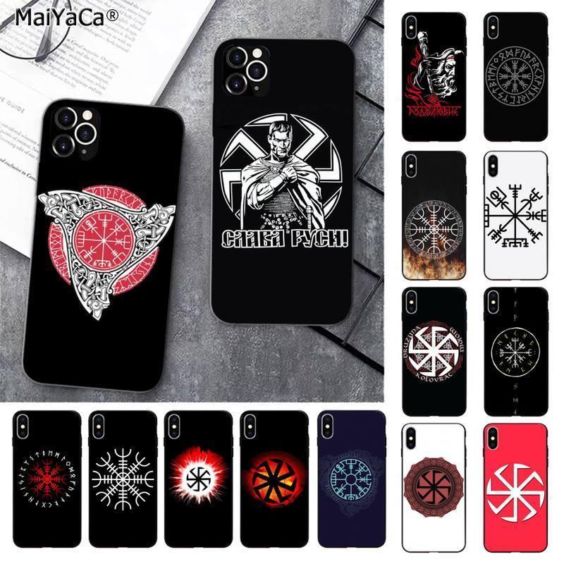 MaiYaCa Slavic Viking symbol Kolovrat Printing Phone Case cover for iPhone 11 pro XS MAX 8 7 6 6S Plus X 5 5S SE 2020 XR case