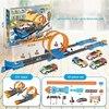 1:64 tor kolejowy zabawka samochód wyścigowy obwód elektryczny samochód muzyczny katapulta pociąg DIY ruch zabawka interaktywne klocki prezenty