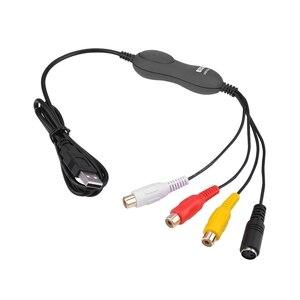 Image 5 - EzCAP 159 USB 2,0 Аудио Видео Запись карта CVBS Композитный S Video Recorder для V8 Hi8 DVD VHS DVR TV Camcorder