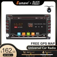 Eunavi 2 Din 안 드 로이드 10 자동차 멀티미디어 플레이어 Dvd 라디오 GPS 네비게이션 자동 2din IPS 터치 스크린 4G 64GB DSP WIFI 오디오 BT5 USB