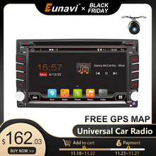Eunavi 2 Din Android 10 voiture lecteur multimédia Dvd Radio GPS Navigation Auto 2din IPS écran tactile 4G 64 go DSP WIFI Audio BT5 USB