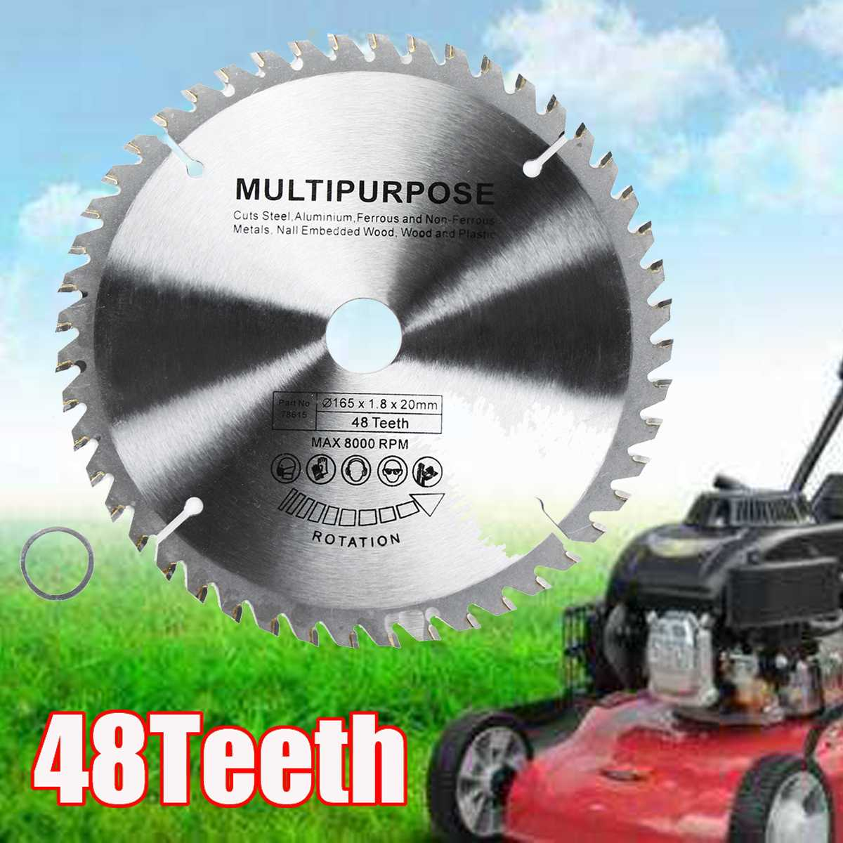 165mm 48  Tungsten Steel Multi-function Round Wheel Disc Wood Plunge  For Woodworking Cutting Durable