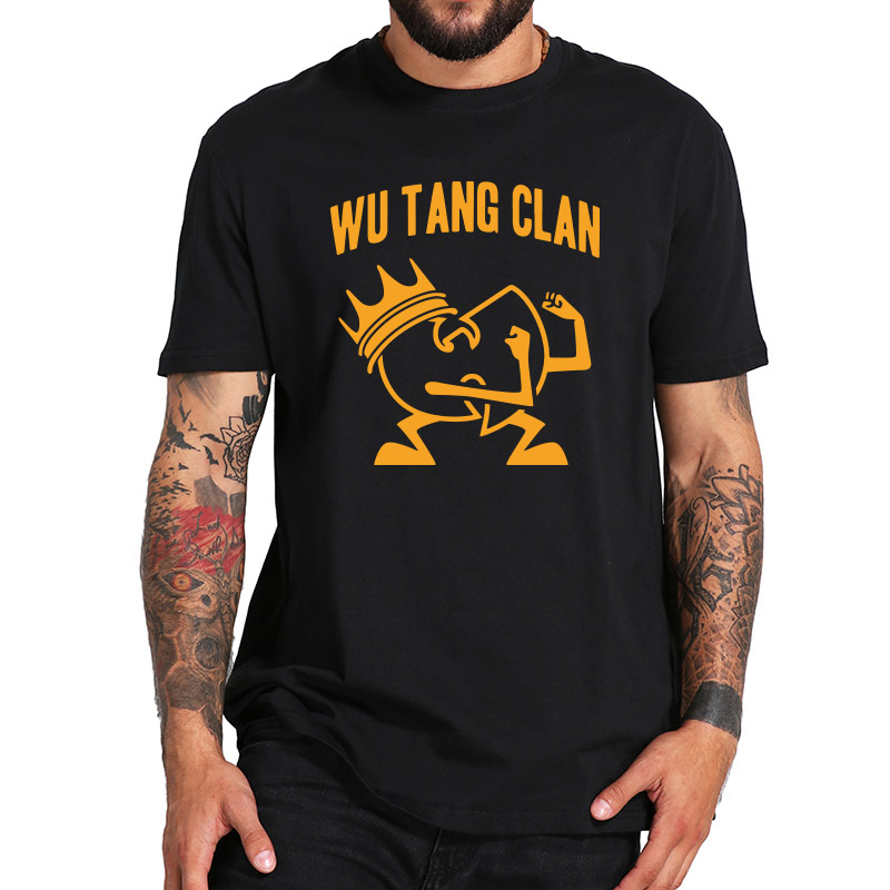Wu Tang Clan T shirt Single Songs Ain't Nuthing Ta Wit Hip Hop Band Tshirt Soft Vintage Camisetas EU Size 100% Cotton image