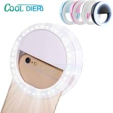 מגניב דיר 36 LED Selfie טבעת אור פלאש הנייד אוניברסלי טלפון משלים תאורה Selfie שיפור למלא אור עבור iPhone