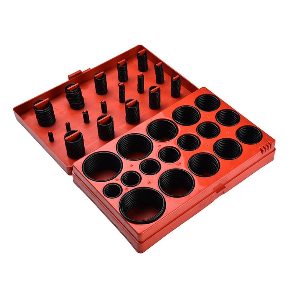 419Pcs Nitrile Rubber O Ring NBR Oil Seal Black Gaskets For Air Cylinder Valve Car Chemical Pipeline Carrier Roller