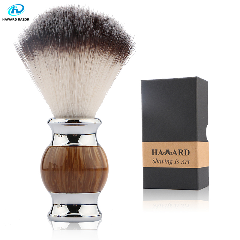 HAWARD Professional Men Shaving Brush Synthetic Hair Excellent Quality Shaving Brush Personalized Comfortable Men's Beard Brush