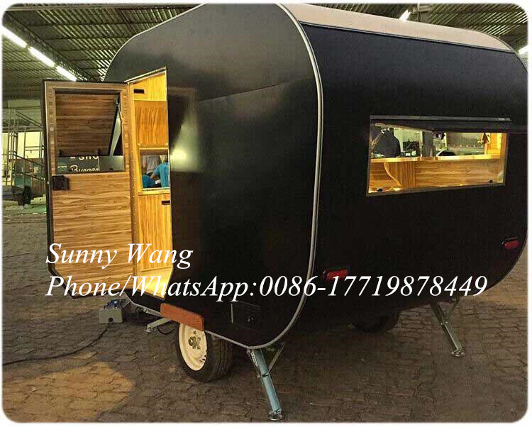 2020 New Arrival Hot Dog Steel Mobile Design Food Truck Food Caravans With Size And Color Customize