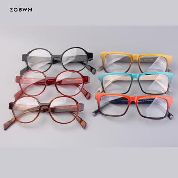 ZOBWN wholesale Eyeglasses Men Women Eyeglasses Optical For Myopia Eyeglasses Frame Plain Retro Eye Glasses Frame oculos de grau фото