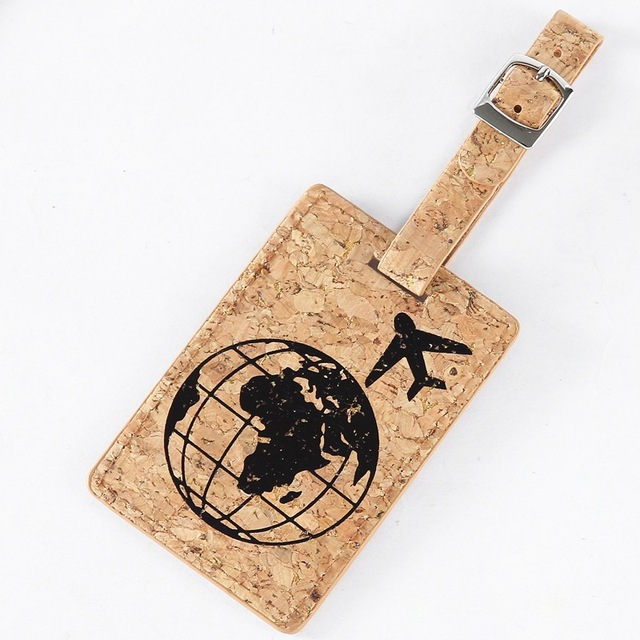 Earth Suitcase Leather Luggage Tag Label Bag Pendant Handbag Travel Accessories Name ID Address Tags
