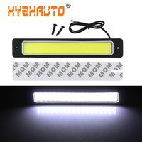 HYZHAUTO-Luz LED de conducción diurna para coche con luces DRL, lámpara blanca para maletero, 12V, 19cm, 1 ud.