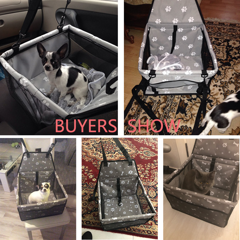 Folding Travel Dog Seat Cover Made With Oxford Cloth Material For Dogs Cats 8