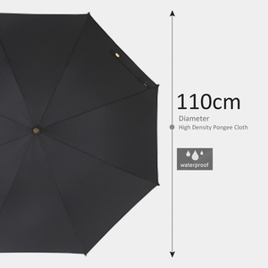 Image 5 - حار بيع الخيزران الروطان طويلة مظلة الرجال الرجعية مقبض منحني كبيرة المطر مظلة قوي Glassfiber 8K يندبروف مكافحة الأشعة فوق البنفسجية المظلة