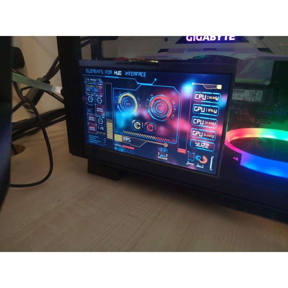 Diy 1024*600 7-Polegada ips tela hd temperatura aida64 monitoramento tela secundária desktop para computador caso de exibição framboesa pi