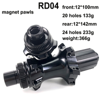 YAn RD04 Road Bike Disc Brake Hub Straight Pull Low Resistance Only 366g Bicycle Hub Front 133g Rear 233g