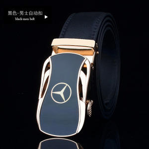 Image 5 - men belt luxury belts for men car logo Casual beltFull leather Famous brand new designer male automatic buckle cow leather