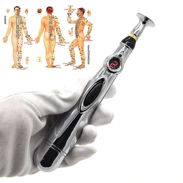 Electronic Aupuncture Pen Electric Meridians Laser Acupuncture Machine Magnet Therapy Instrument Energy Pen Massager Tool Set