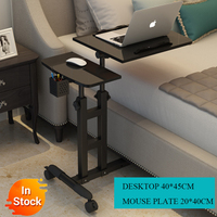 Foldable Computer Table  64*40CM Adjustable Portable Laptop Desk Rotate Laptop Bed Table Can be Lifted Standing Desk|Laptop Desks| |  -