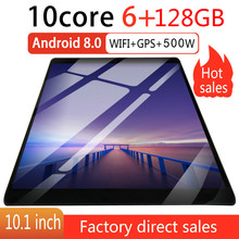 10 Inch Octa Core 6G+128GB Android 8.0 WiFi Tablet PC Dual SIM Dual Camera  Bluetooth MTK8752 4G WiFi Call Phone Tablet  Gifts