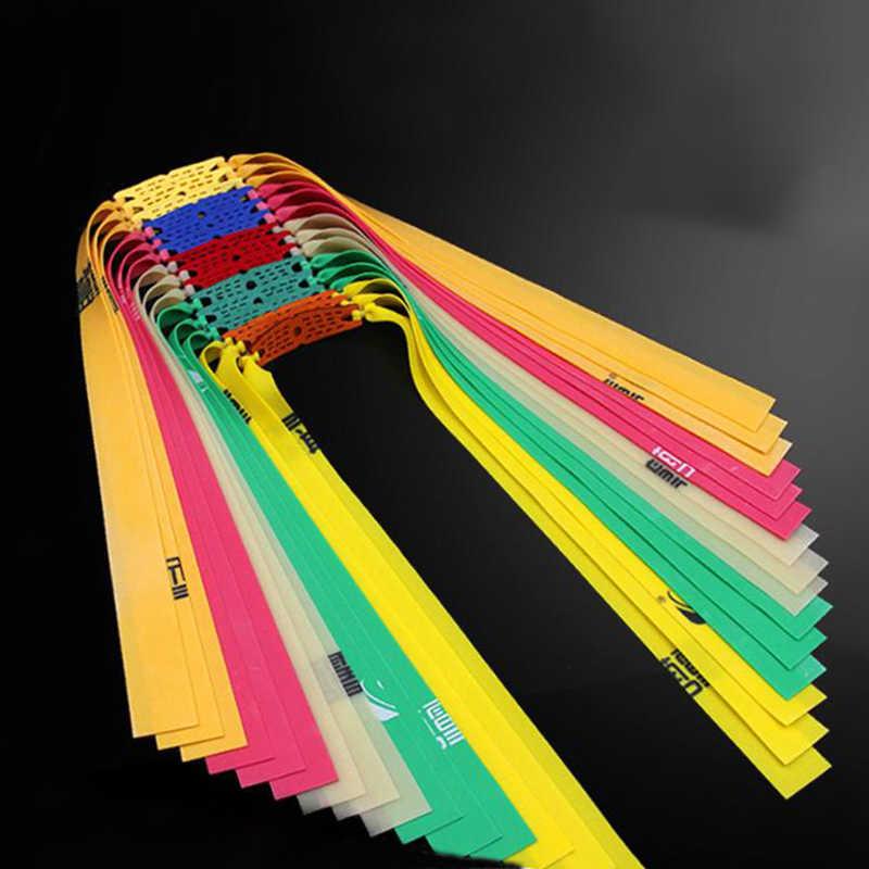 6pcs Slingshot การล่าสัตว์ที่มีประสิทธิภาพยางแบน 0.5-0.8 มม.ยืดหยุ่นสูงกลางแจ้งยิงหนังสติ๊กอุปกรณ์เสริม