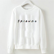 Kawaii Friends Sweatshirts Print Women Clothes 2019 Hot Sale Turtlenecks Long Sleeve Casual Streetwear Plus Size Ladies Tops