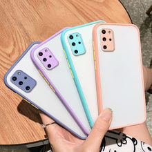 Camera Protect Matte Cases for Samsung Galaxy S20 Plus S21 Ultra Note 20 10 9 S10 S9 S8 Plus A72 A52 A32 A71 A51 A70 Case Cover