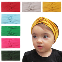 Fashion Baby Cotton Seamless Hairband Cute Princess Hair Accessories For Baby Kids Headwear Turban Knot Photo Props Gifts