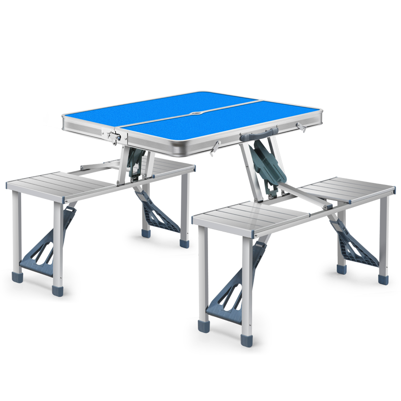 Outdoor Folding Table And Chair Outdoor Portable Connecting Table And Chair Set Exhibition Industry