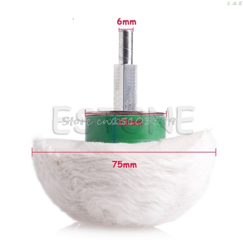 New 3'' Cotton Dome Polishing Buffing Wheel Polish Drill 1/4'' Shank Brush   M12 Dropship