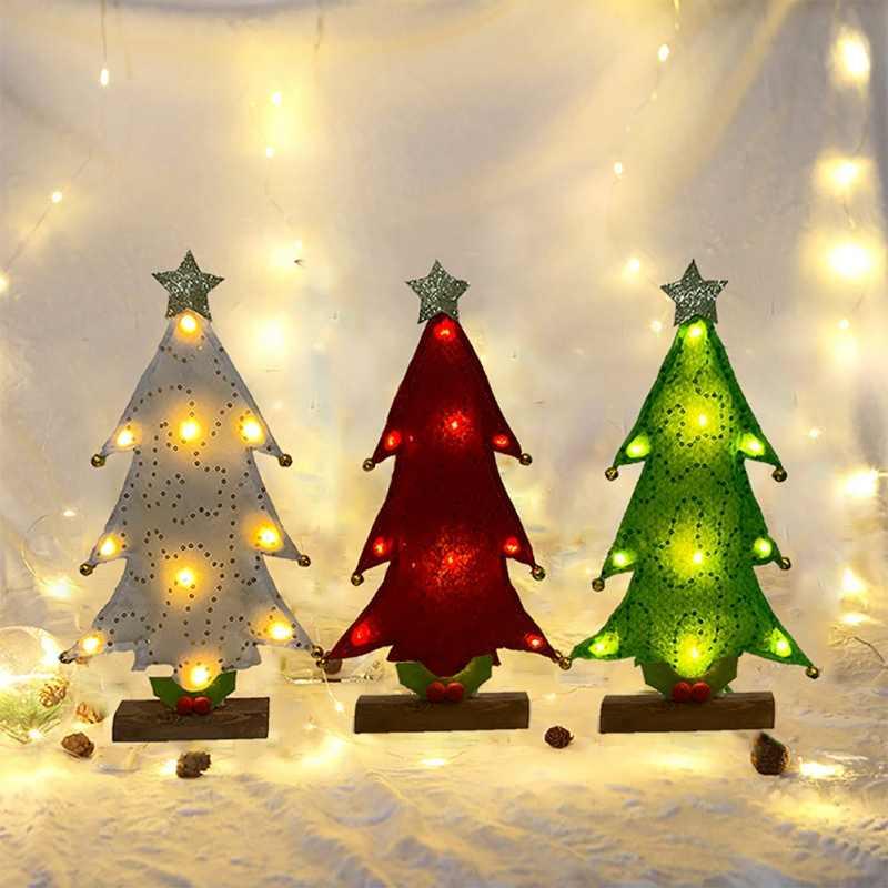 Decorazioni Natalizie A Led.Ha Condotto Il Mini Di Natale Albero Di Natale Led Desktop Di Albero Di Natale Ornamento Casa Del Partito Decorazioni Da Tavola Festa Albero Di Natale Forniture Alberi Aliexpress