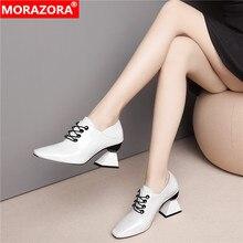 MORAZORA 2020 New Arrive genuine leather women pumps fashion