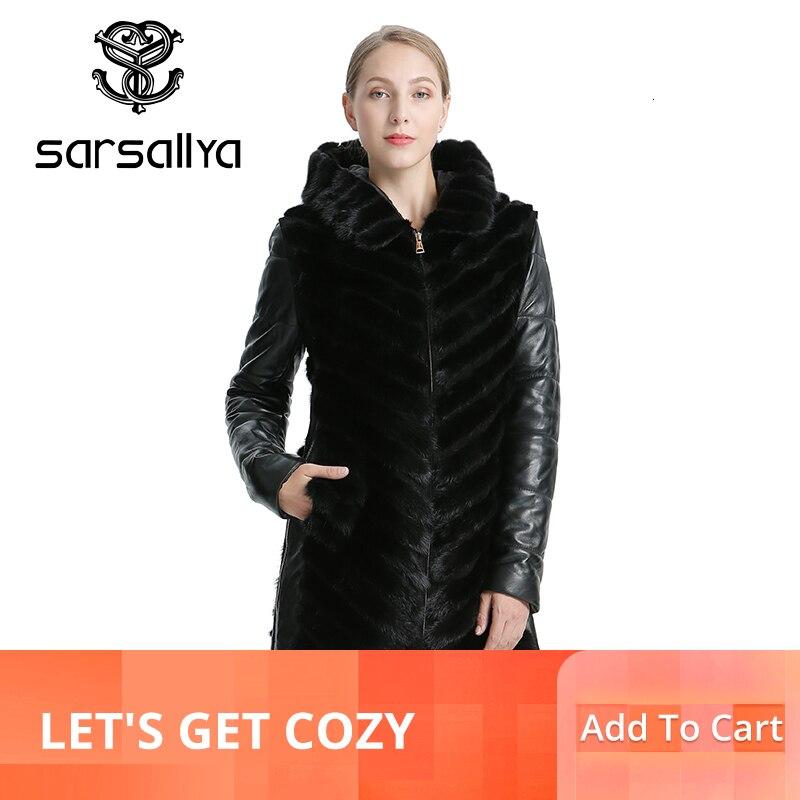 Sarsallya 자연 밍크 코트 자켓 여성 겨울 자켓 분리형 가죽 리얼 모피 코트 여성 의류 오버 코트 여성-에서리얼 퍼부터 여성 의류 의  그룹 1