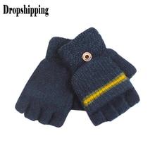Разоблачающие пальцы Лоскутные перчатки с кнопками водительские лыжные игры мобильный телефон теплые перчатки панельные Полиэстер перчатки без пальцев luvas# ZC