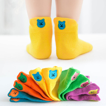 10 Pair Cotton Girls Sock Children Socks Kids Short New Boy Boys Socks Born Baby Socks For Girl Happy Toddler Socks 0-12 T 5pairls lot boys girls pure white socks for children baby cotton soft kids socks loose comfortable toddler black white socks