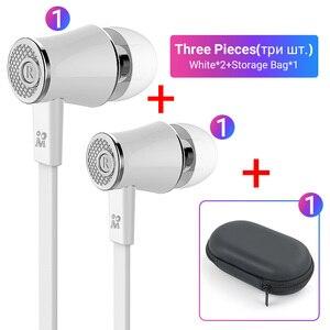 Image 3 - Langsdom Mijiaer JM21 3.5mm kulaklık kablolu kulaklık 2 adet 1 adet fermuarlı saklama çantası için en iyi maç taşıma dışında