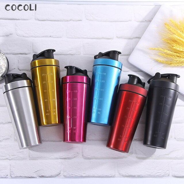 Stainless Steel Protein Shaker Bottle Gym Shake Kettle Sport Milkshake Mixer Water Bottle Whey Protein for Fitness BPA-Free 1