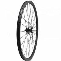 Carbon disc mtb wiel 27.5er fietswielen 30x24mm Asymmetrie powerway M32 mtb fiets achterwiel 142 * 12mm 650b 3k twill