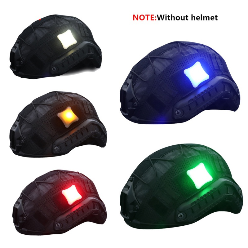 2019 New Tactical Signal Light Indicators Helmet Light Survival Lamp With Magic Tape Waterproof Military Molle Hunting Vest LEDe