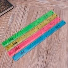 Soft 30cm Ruler Multicolour Flexible Creative Stationery Rule School Supply R91A