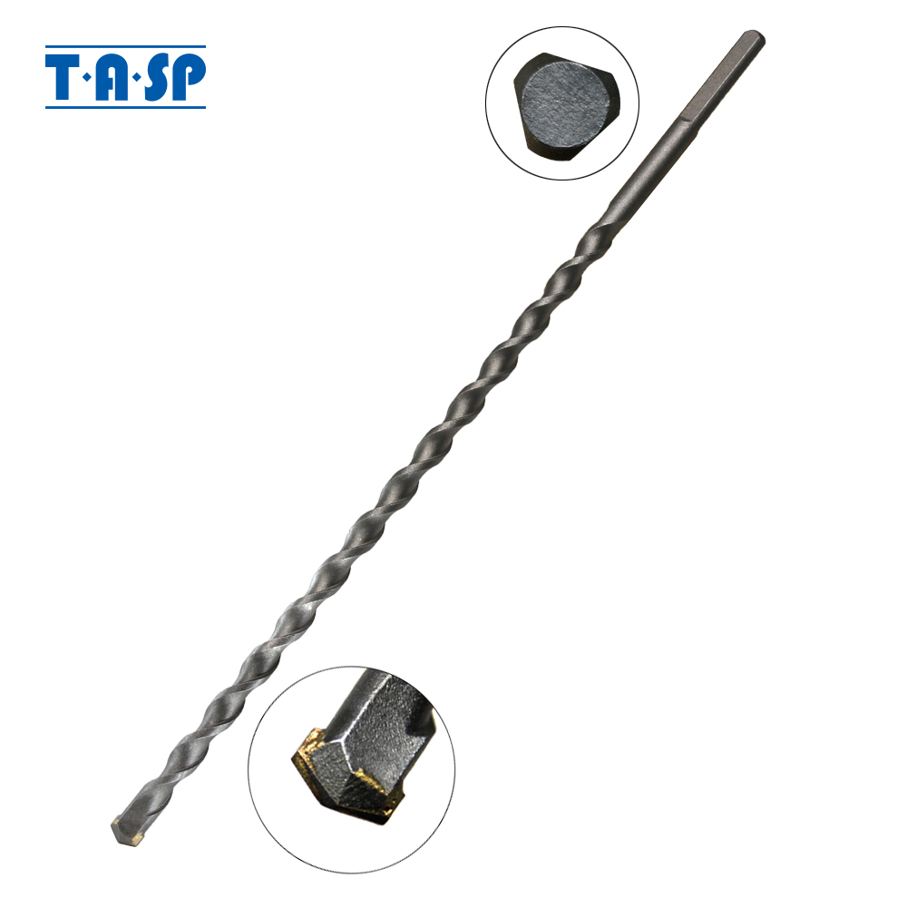TASP 10 & 12mm Long Masonry Drill Bit Tungsten Carbide Tipped Concrete Drilling Bits Power Tool Accessories