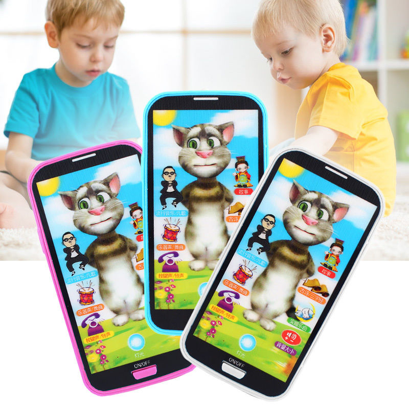 Baby Educational Phone English Learning Mobile Phone Toys Simulator Music Phone Screen Learning Toy Gift For Children