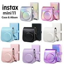 Per Fujifilm Instax Mini 11 borsa per fotocamera in pelle PU borsa a tracolla con Mini borse Instax + 96 tasche Album