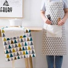 Новые холщовые хлопчатобумажные фартуки холщовые карманы для выпечки повара кухонный фартук кухоный повара с шляпой бытовые товары