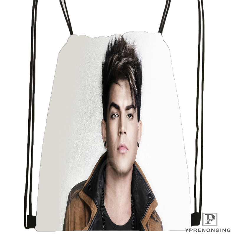 Custom Adam Lambert Drawstring Backpack Bag For Man Woman Cute Daypack Kids Satchel (Black Back) 31x40cm#180531-01-37