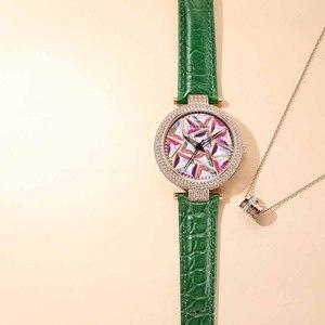 Image 4 - Nakzen 高級ブランド腕時計ファッションレザー腕時計生活防水時計レディース腕時計ギフト女性のための relojes